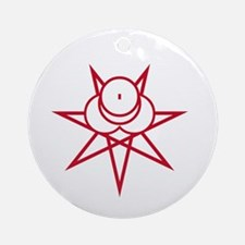 Red Seal Ornament (Round)