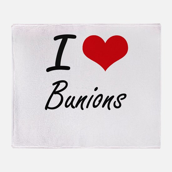 I Love Bunions Artistic Design Throw Blanket