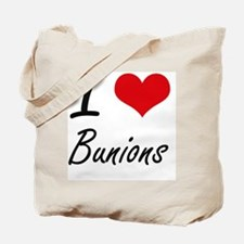 I Love Bunions Artistic Design Tote Bag