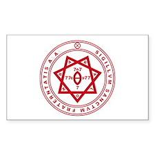 Sigillum Sanctum Fraternitati Sticker (Rectangular