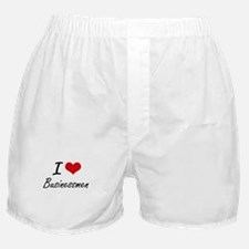 I Love Businessmen Artistic Design Boxer Shorts