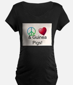 Peace Love & Guinea Pigs Maternity T-Shirt