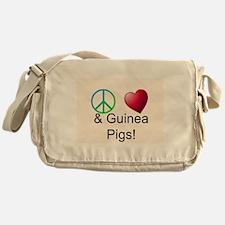 Peace Love & Guinea Pigs Messenger Bag