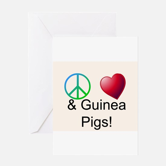 Peace Love & Guinea Pigs Greeting Cards