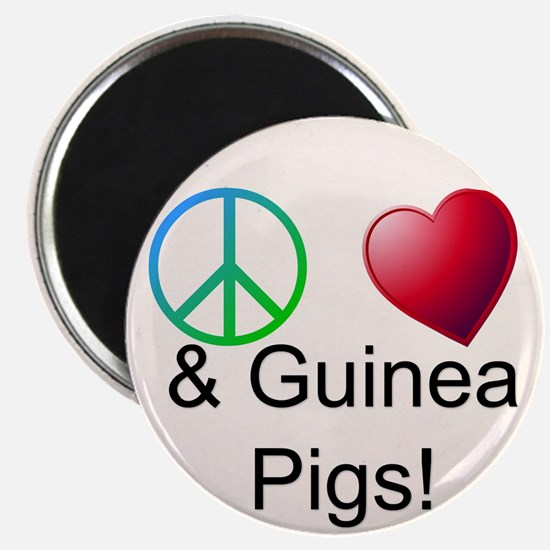 Peace Love & Guinea Pigs Magnets