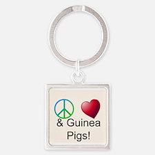 Peace Love & Guinea Pigs Keychains