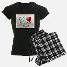 Peace Love & Guinea Pigs Pajamas