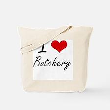 I Love Butchery Artistic Design Tote Bag