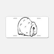 Mini Lop Aluminum License Plate