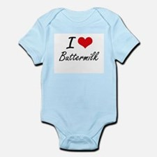 I Love Buttermilk Artistic Design Body Suit