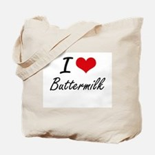 I Love Buttermilk Artistic Design Tote Bag