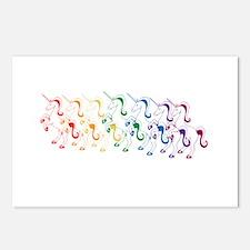 Rainbow Unicorn Postcards (Package of 8)