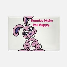Bunnies Make me Happy Magnets