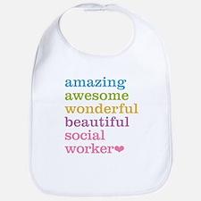 Amazing Social Worker Bib
