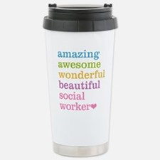 Amazing Social Worker Travel Mug