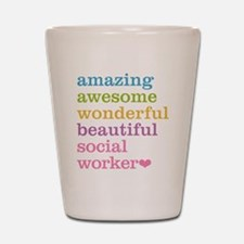Amazing Social Worker Shot Glass