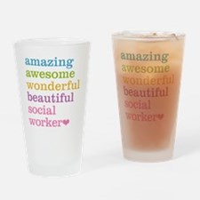 Amazing Social Worker Drinking Glass