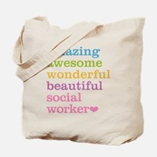 Amazing Social Worker Tote Bag