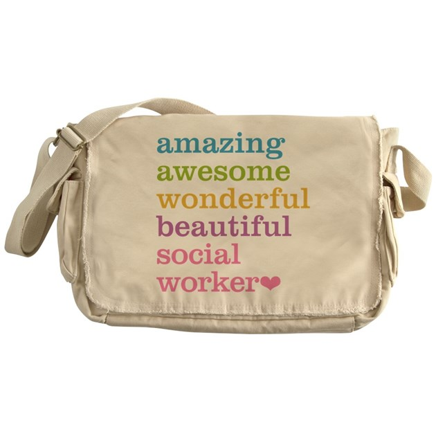 Amazing Worker: Amazing Social Worker Messenger Bag By Admin_CP4060569