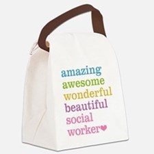 Amazing Social Worker Canvas Lunch Bag