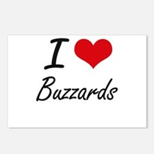 I Love Buzzards Artistic Postcards (Package of 8)
