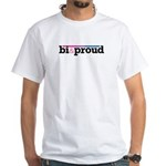Bi&proud White T-Shirt