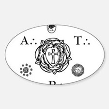 Sacred Seal of the ART Oval Decal