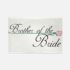 Elegant Brother of the Bride Rectangle Magnet
