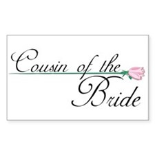 Elegant Cousin of the Bride Rectangle Decal