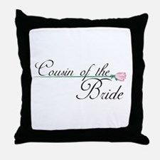 Elegant Cousin of the Bride Throw Pillow