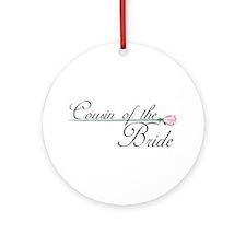Elegant Cousin of the Bride Ornament (Round)