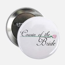Elegant Cousin of the Bride Button