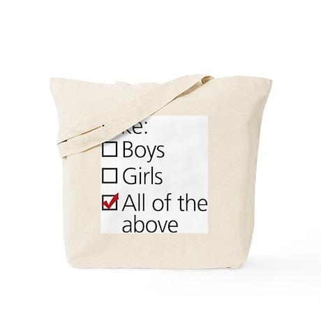 I Like Boys AND Girls Tote Bag