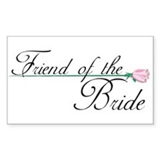 Elegant Friend of the Bride Rectangle Decal