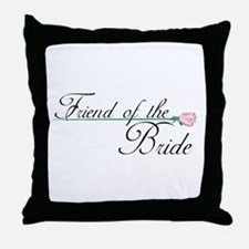 Elegant Friend of the Bride Throw Pillow