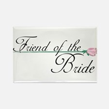 Elegant Friend of the Bride Rectangle Magnet