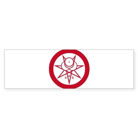 Crowley Seal Bumper Sticker