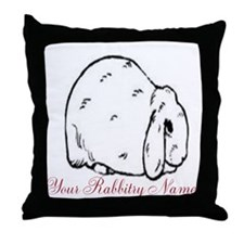 Personalized Mini Lop Throw Pillow
