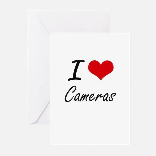 I love Cameras Artistic Design Greeting Cards