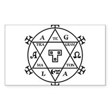 Hexagram of Solomon Rectangle Decal