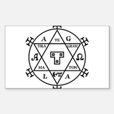 Hexagram of Solomon Rectangle Decal