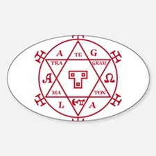 Hexagram of Solomon Oval Decal