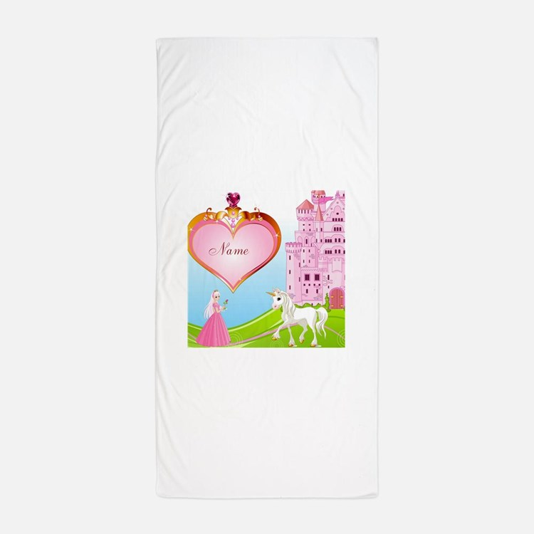 Monogrammed Princess Beach Towel: Fairy Princess Bathroom Accessories & Decor