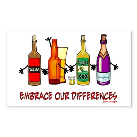 Embrace Our Differences Rectangle Sticker