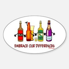 Embrace Our Differences Oval Decal