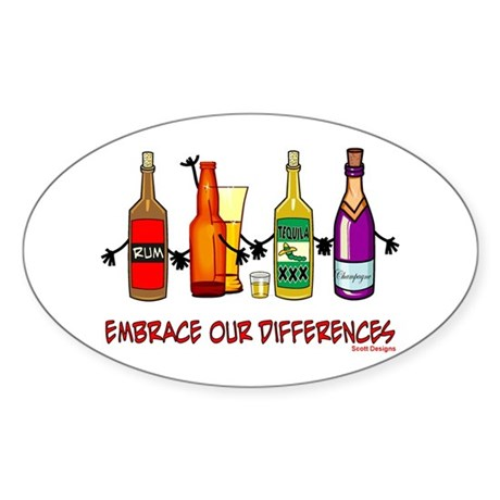 Embrace Our Differences Oval Sticker