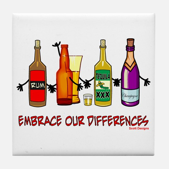 Embrace Our Differences Tile Coaster