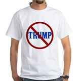 Anti donald trump Mens White T-shirts