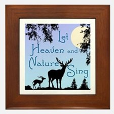 CHRISTMAS - LFET HEAVEN AND NATURE SIN Framed Tile