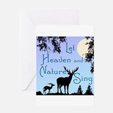 CHRISTMAS - LFET HEAVEN AND NATURE Greeting Cards